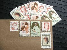 Literary Ladies Vintage Postage Stamps