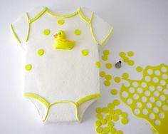 How To Make A Duckie Onesie Cake
