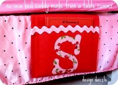 no sew bed caddy