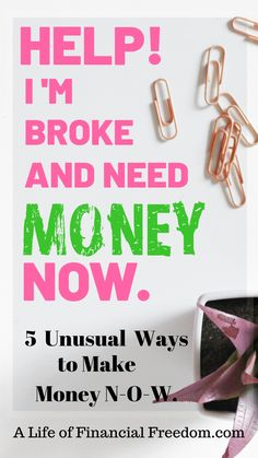In a crunch and need some money now or just some side income money? Here are 5 unusual and legitimate ways to make some side hustle money. Make Quick Money, Make Money Today, Earn More Money, Earn Money Online, Make Cash Fast, Online Jobs, I Need Money Now, Hustle Money, Money Saving Tips