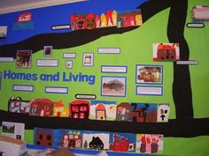 Homes and Living Display classroom display class display homes town city houses geography living Early Years (EYFS) & Primary Resources Early Years Displays, Class Displays, Classroom Displays, Classroom Ideas, Classroom Organisation, Organization, Primary Resources, Primary Teaching, Preschool Social Studies