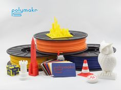 Polymakr: Entirely New Materials for Desktop 3D Printing by Polymakr — Kickstarter.  Polymakr brings to you 3 entirely new printing materials that greatly extend what you can do with your desktop 3D printer.