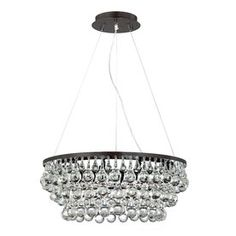 Eurofase�Canto 8-Light Oil Rubbed Bronze Crystal Chandelier