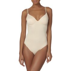 Jaclyn Smith Plus Size Women's Plus Body Briefer, Size: 3XL, Nude