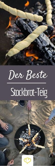 So you do the very best stick bread dough - with and without yeast - Brot selber backen - Rezepte - Picknick Grilling Recipes, Cooking Recipes, Snacks Recipes, Bread Recipes, Yummy Food, Tasty, Party Snacks, Love Food, Food Inspiration