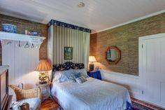 "The ""Blue Room"" at #WinterwoodatPetersham, with wide pine floors and an ensuite full bath. #Bedandbreakfastforsale http://www.19northmainstreet.com"