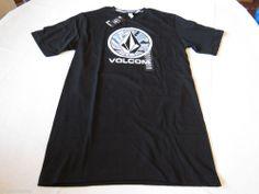 Men's Volcom t shirt TEE logo NEW surf skate M The Circle SS black a351142s #Volcom #GraphicTee