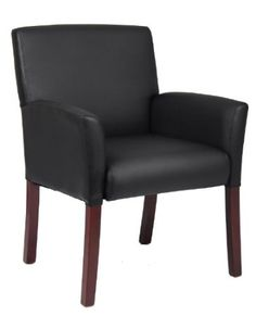 FOR CUSTOMER WAITING CHAIR Amazon.com: Boss Executive Box Arm Chair W/Mahogany Finish Guest Seating: Home & Kitchen