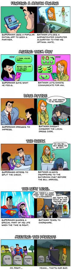 Dating: Superman Versus Batman