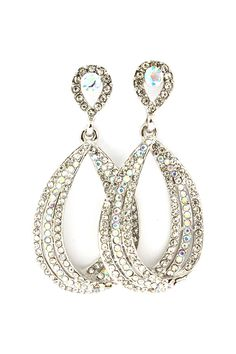 Anna Teardrop Earrings in Crystal Iridescence