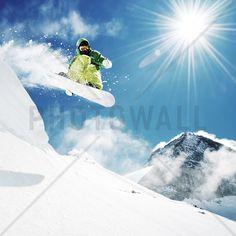 Snowboarder at Jump - Wall Mural & Photo Wallpaper - Photowall