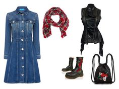 #combonum94 by aleksandra-nikolajevic on Polyvore featuring moda, M.i.h Jeans, Dr. Martens, Monki and Look by M