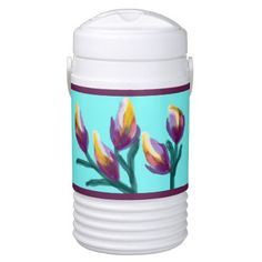 """Tulip Flower Buds"" Igloo Beverage Cooler - home decor design art diy cyo custom"