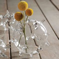Sputnik Glass Vase
