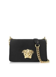 VERSACE Palazzo Black Nappa Leather Shoulder Bag €1.490,00