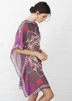 Short Caftan | Beach Cover Up - ocean+main - 1