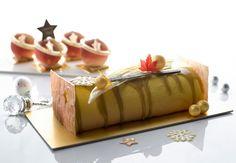 Lychee and Peach Cheese Log Cake