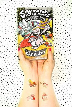 DIY Captain Underpants Tattoos! Fun craft for kids.