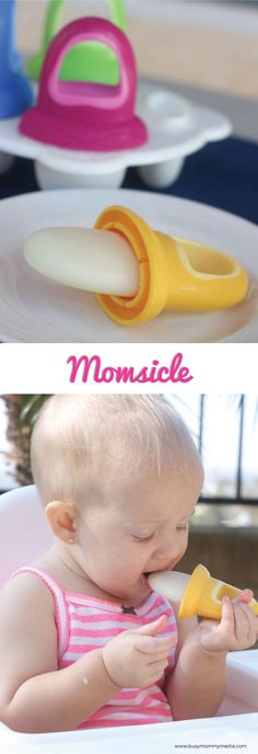 Momsicle a.k.a. Breastmilk Popsicle! — Have you ever heard of momsicles? These are AWESOME for teething babies!! My babies loved these and you can use them with breastmilk or forumla!