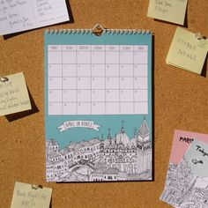 City Illustrations Calendar 2015 by TessaGalloway on Etsy
