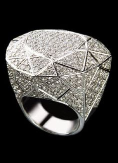 Diane von Furstenberg for H. Stern - 18k polished white gold with approximately 350 diamonds.