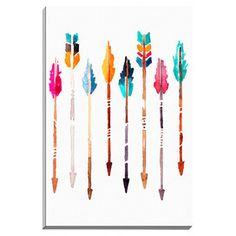 """Arrows"" by Kelsey McNatt Painting Print on Wrapped Canvas"