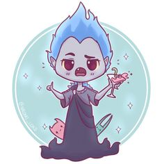 More chibi Disney Villains 💙💀💙 This time Hades! The sassiest god of the underworld 😂😂✨ (I'll be closing my Etsy store for a while on on Wednesday as I'm off to the US on Sunday 😊) Kawaii Disney, Kawaii Anime, Chibi Disney, Disney And Dreamworks, Kawaii Chibi, Anime Chibi, Cute Disney Drawings, Cute Kawaii Drawings, Cute Animal Drawings