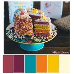 Birthday Cake Color Scheme Click to get the full collection FREE! #colorpalettes