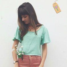 Dia turquesa #lojaamei #blusa #etiquetaamei #muitoamor #turquesa #flores