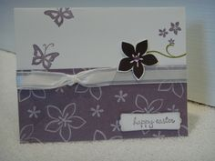 Happy Easter - Using Cottage Garden Stampin' Up! Set!