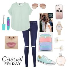 """""""Schoooool """" by raneliperera on Polyvore featuring 7 For All Mankind, 360 Sweater, Converse, H&M, Casetify, Vans, Chanel and Accessorize"""
