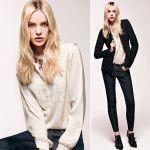 Liu Jo Jeans collection Fall/Winter 2014-2015: silk shirt and blazer
