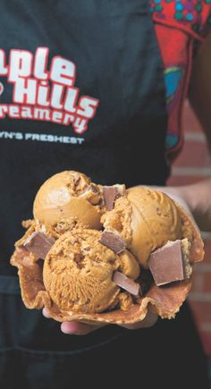 Ample Hills Creamery, Prospect Park, Brooklyn NY (Salted Crack Caramel ice cream) Saw this amazing place on The Chew 6/12/14