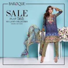 Charming Baroque Midsummer 2016-17 Flat 50% Off For Eid-Ul-Adha Designs
