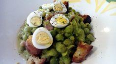 Guisantes con jamón y huevo de codorniz – Guisantes con jamon y huevo – Piselli con prosciutto e uova di quaglia