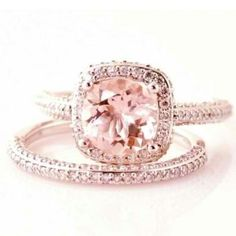 Pink diamonds. I don't normally like colored diamonds but this is beautiful!