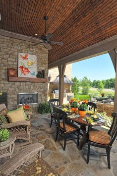 Rustic Decorating Ideas With Logs | Dream (Rustic) Home & Decor Ideas / I LOVE this outdoor kitchen ...