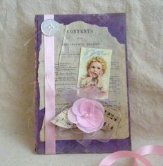 Shabby Chic Easter Book CoverLilac and Pink Easter by CraftyMJC, $12.50