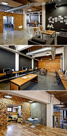 Parliament, graphic design and marketing company utilized some beautiful reclaimed materials for their office design.