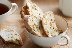 These low fat biscotti are perfect to keep on hand in the office cupboard for snacks for unexpected meetings.