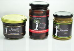 Spread  Olives of Kalamata  KORONIDA on Packaging of the World - Creative Package Design Gallerywww.oliveoilkalamata.com Olive Oil Packaging, Kalamata Olives, Creative Package, Package Design, Organic Recipes, Green, Food, Eten, Packaging Design