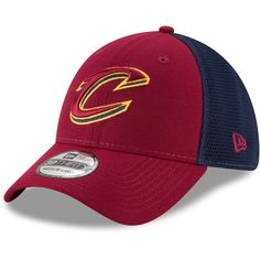 cc5ea6a863988 Men s Cleveland Cavaliers New Era Wine 2T Sided 39THIRTY Flex Hat