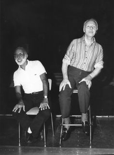 George Balanchine & Jerome Robbins - The two masterminds of Program IV: Broadway and Ballet! Ballet Pictures, Dance Pictures, Jerome Robbins, George Balanchine, Dance Images, Nureyev, City Ballet, Ballet Dancers, Ballerinas