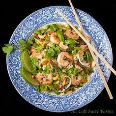 Thai-Style Shrimp & Asparagus Fried Rice w/ Golden Raisins & Cashews from @Chris Cote Cote Cote @ The Café Sucré Farine