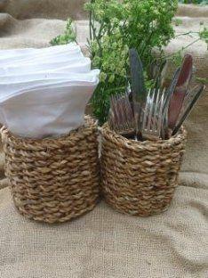 Cutlery & Napkin Baskets | Our Kitchen Garden