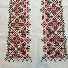 Cross Stitch Embroidery, Embroidery Patterns, Hand Embroidery, Cross Stitch Patterns, Palestinian Embroidery, Knitting Needles, Needlepoint, Bohemian Rug, Needlework