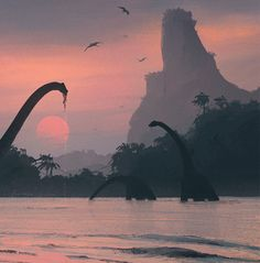 Nature of the Jurassic Period by Nikolay Razuev, via Behance
