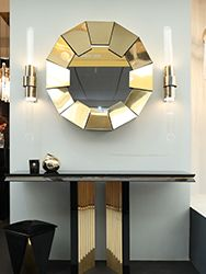 Home Decoration: Black & Gold Trend Lives on with these Modern Stools ⇒ Be mesmerized by three marvelous modern stools that highlight this exquisite color combination