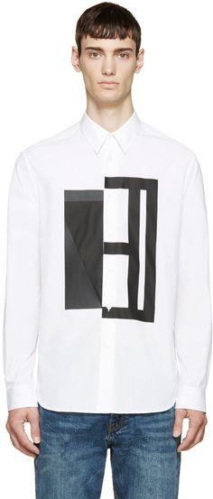 McQ Alexander McQueen - White Geometric Shirt