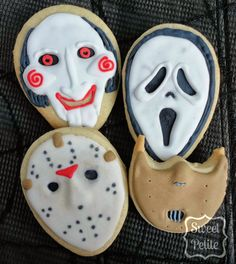 Scary Movie Masks! (Tutorial) by Sweet Petite #halloween #cookies